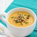 Roasted Butternut Squash and Apple Soup - a subtly sweet soup to warm you up. | Kristine's Kitchen