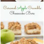 Caramel Apple Crumble Cheesecake Bars, with a light & creamy Greek yogurt cheesecake   Kristine's Kitchen