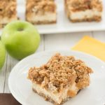Caramel Apple Crumble Cheesecake Bars