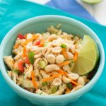Chicken and Rice Salad with Ginger-Sesame Dressing | Kristine's Kitchen