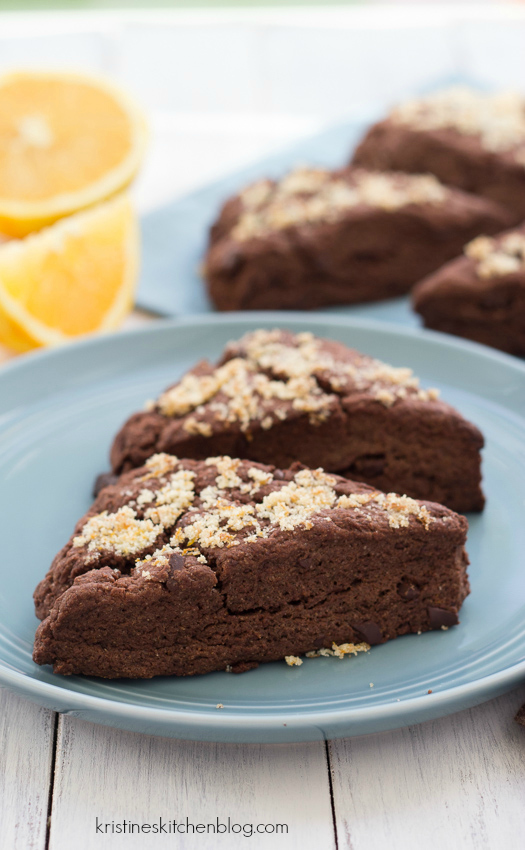 Double Chocolate-Orange Scones - so festive for the holidays! | Kristine's Kitchen