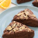 Double Chocolate-Orange Scones - so festive for the holidays! | Kristine's Kitchen