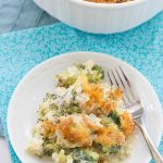 This cheesy broccoli casserole is made completely from scratch.  Perfect for all of your holiday meals. | Kristine's Kitchen