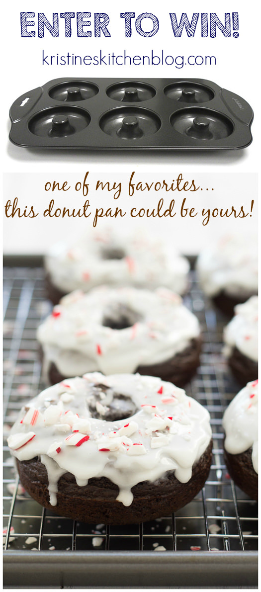 FUN Donut Pan Giveaway! Plus a recipe for Peppermint Mocha Donuts!   Kristine's Kitchen