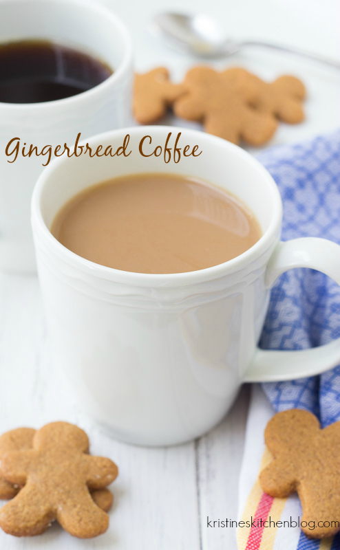 Your steaming mug of coffee is extra special with a hint of warm gingerbread spices.