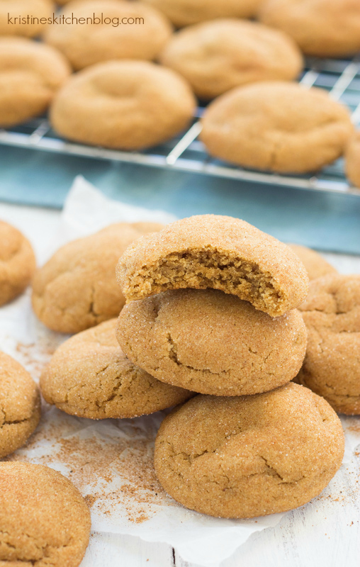 The BEST soft, chewy Gingerdoodle Cookies! #holiday | Kristine's Kitchen