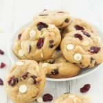 White Chocolate Cranberry Cookies with Brown Butter