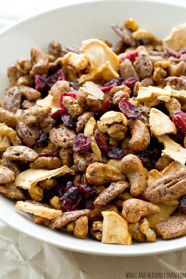 Candied-Nut-Cranberry-Apple-Snack-Mix from Whole and Heavenly Oven