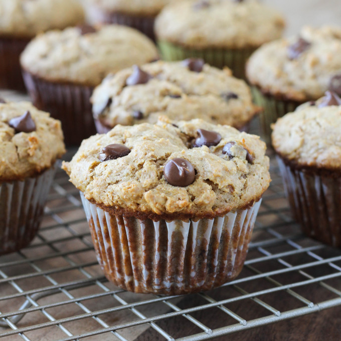 Healthy_Peanut_Butter_ChocolateChip-Muffins from American Heritage Cooking