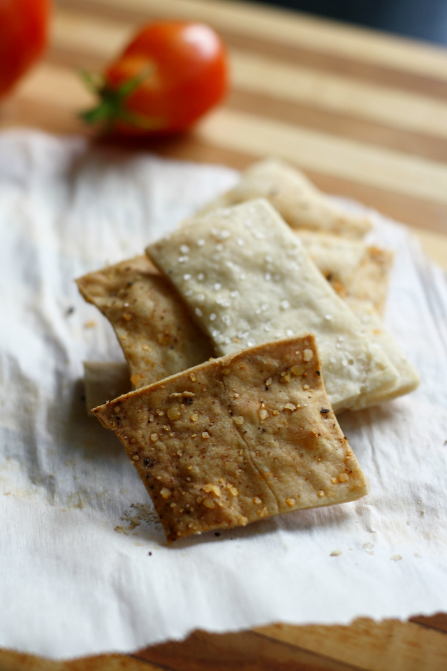 easy-gluten-free-crackers from The Pretty Bee