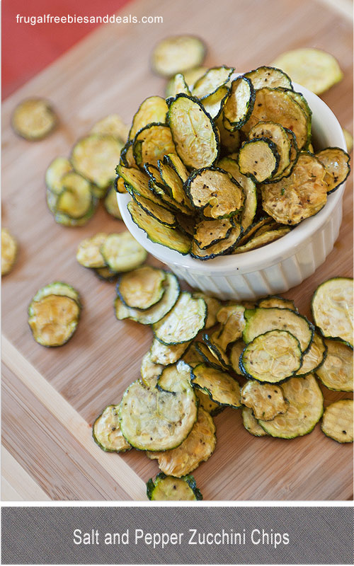 salt and pepper zucchini chips from Frugal Living Mom2