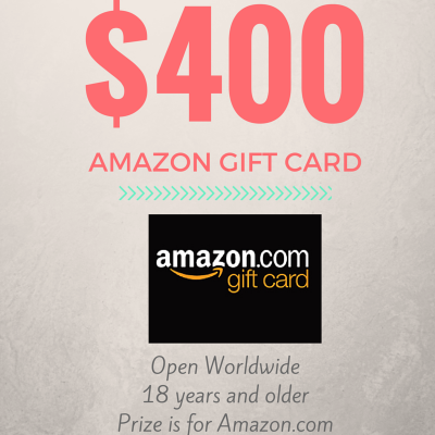 $400 Amazon Gift Card Giveaway!