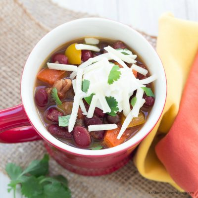 Vegetarian Chili {Stovetop or Slow Cooker}