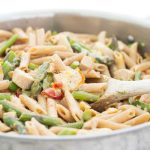 Creamy, Lemony Pasta with Chicken and Asparagus