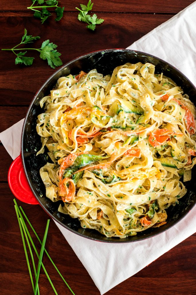 Fettuccine with Lemon Ricotta and Zucchini by Savory Nothings