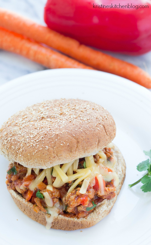 BBQ Turkey Sloppy Joes - quick, easy, packed with sweet-spicy bbq flavor!