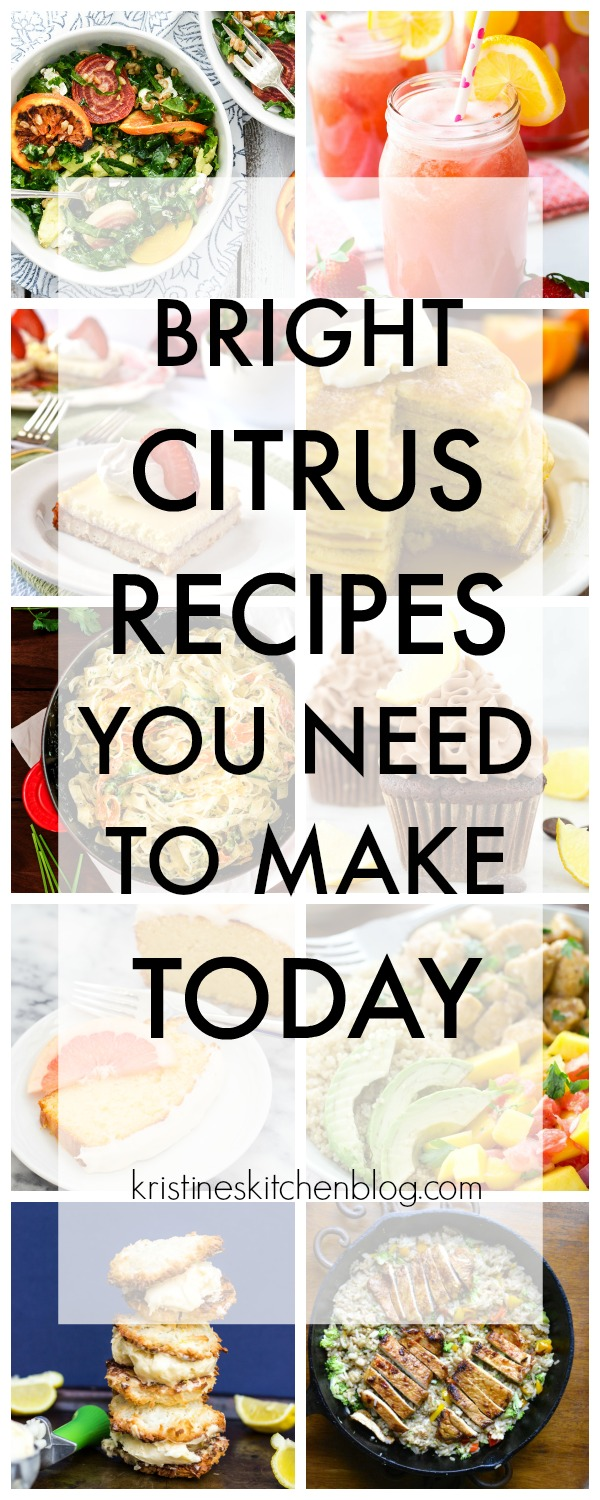 The ULTIMATE round up of citrus recipes! Cookies, cakes, pasta, salads, cheesecake and SO much more! Recipes with oranges, lemons, grapefruit, and lime for winter and spring!