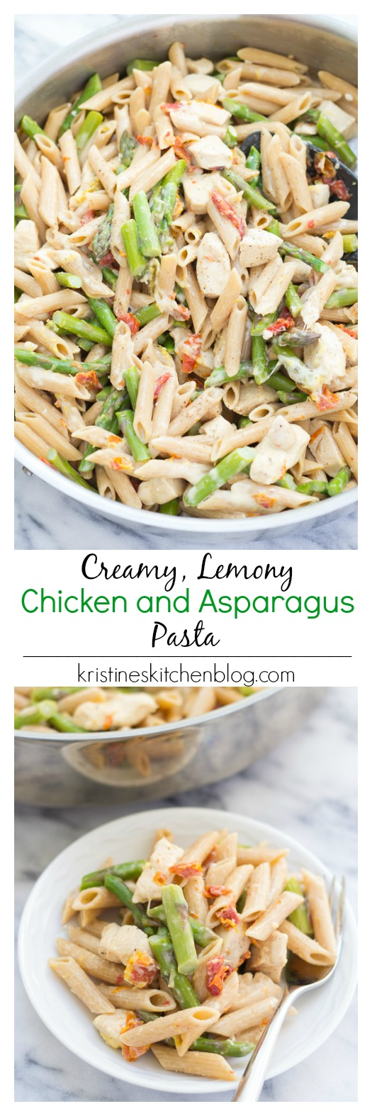 Creamy Lemony Pasta with Chicken and Asparagus - an easy one-pot ...