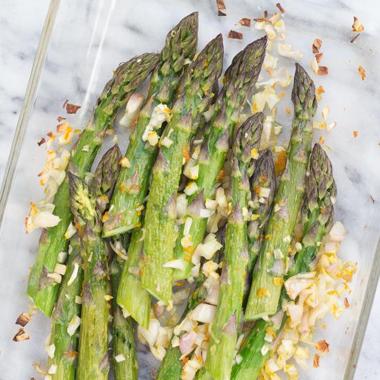 orange and shallot roasted asparagus 550-8775