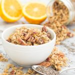 You'll love the hint of orange in this Orange Chia Seed Granola!  #breakfast #oats