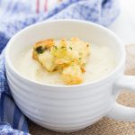 Perfect Potato Soup with Garlic Herb Croutons - easy enough for a weeknight!
