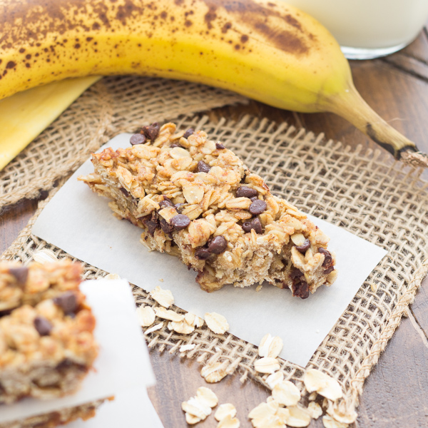 Banana Chocolate Chip Granola Bars - Kristine's Kitchen