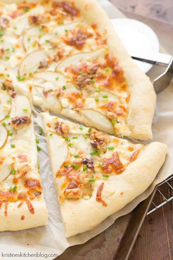 This Pear, Feta and Walnut Pizza is my all-time favorite!