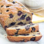 Our Favorite Healthy Blueberry Banana Bread {Whole Wheat, Refined Sugar Free}