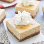 Pumpkin Greek Yogurt Cheesecake Bars