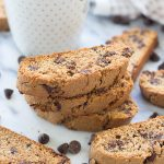 Cinnamon Dark Chocolate Chip Biscotti