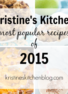 Kristine's Kitchen: Our most popular recipes of 2015. Slow cooker recipes, easy breakfasts, make ahead snacks, healthy smoothies, one pot dinners, and more!
