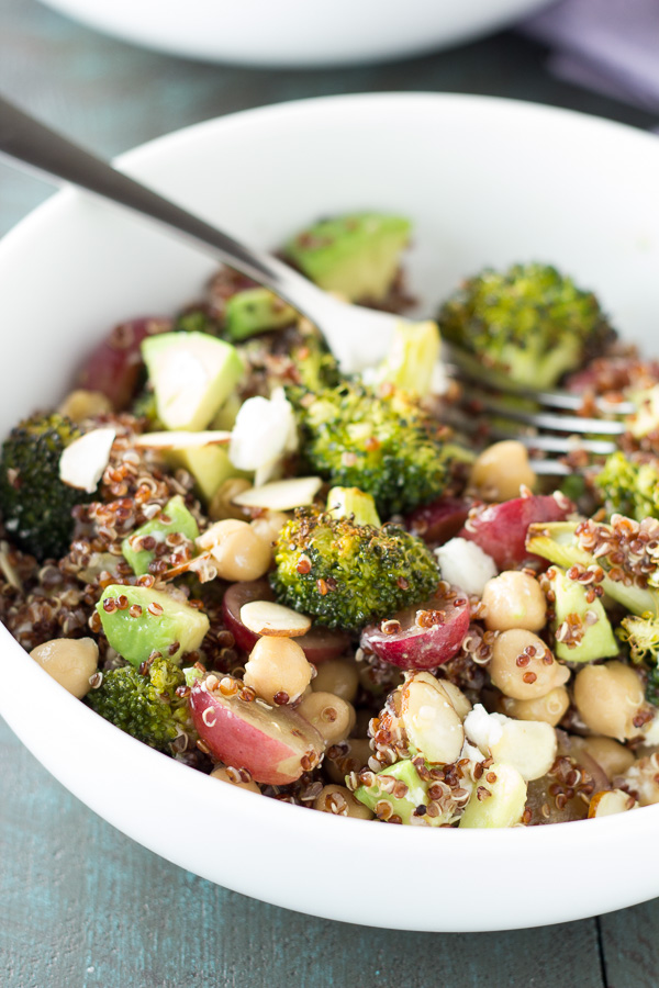 quinoa and roasted broccoli lunch bowls kristine s kitchen
