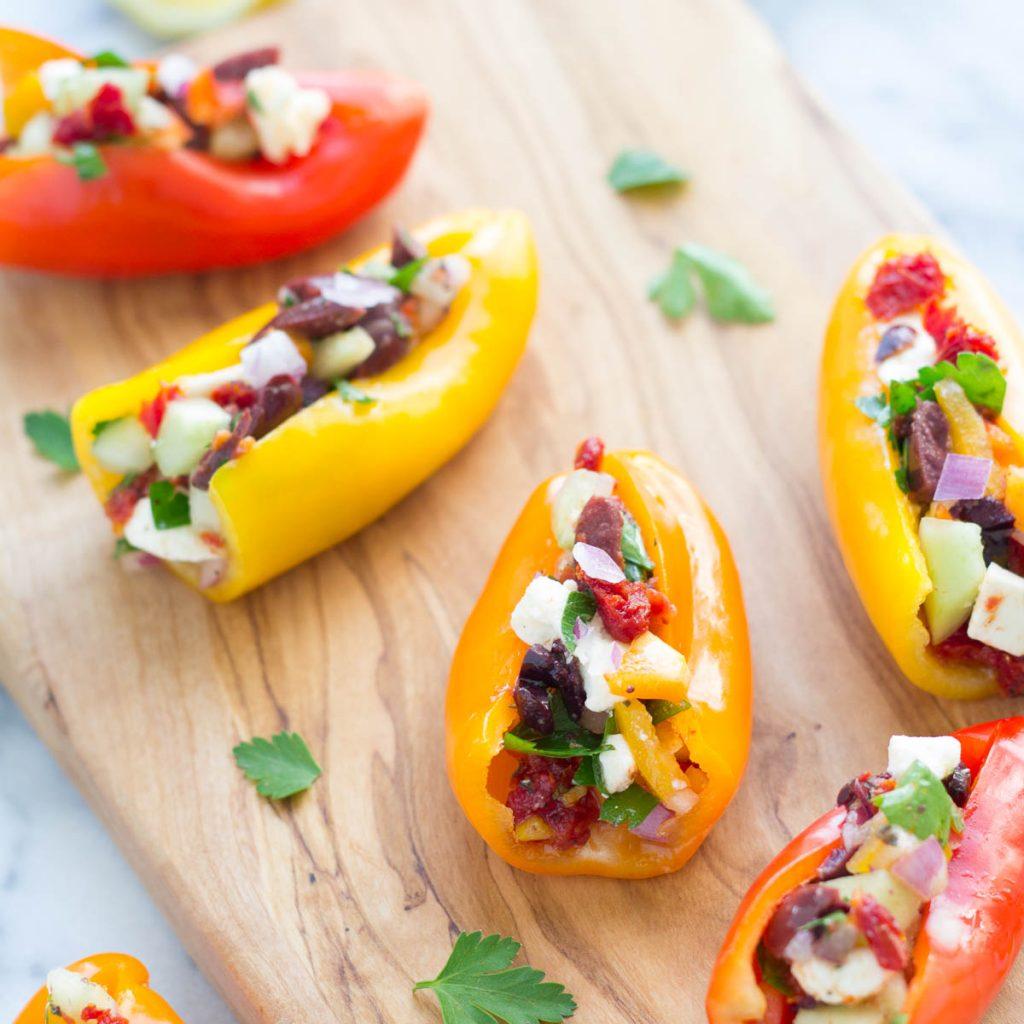 Mediterranean Stuffed Mini Peppers