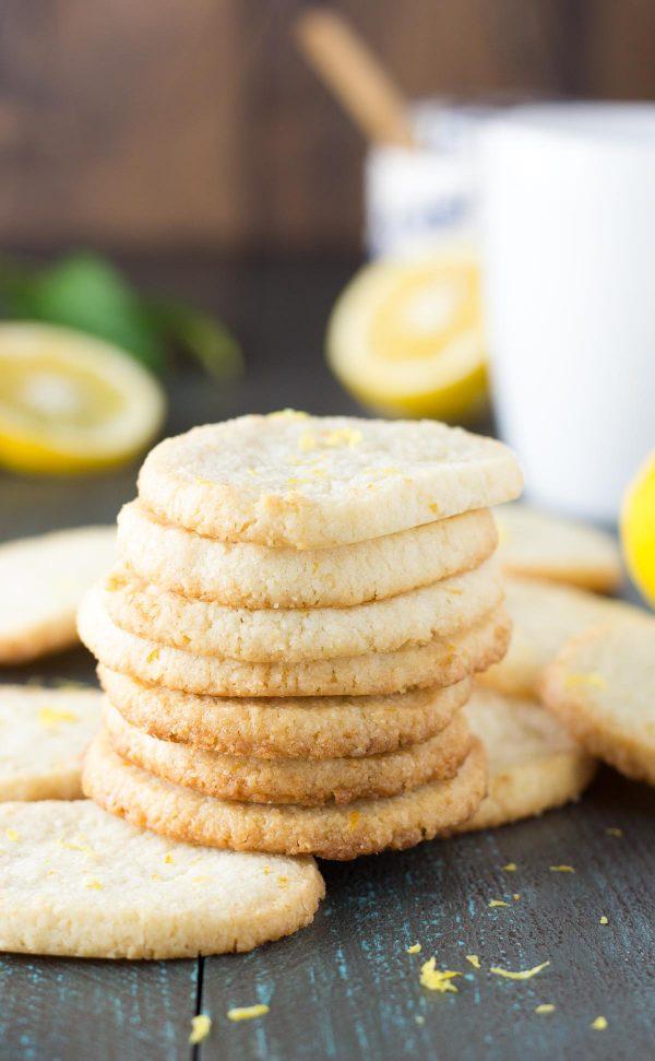 Lemon Almond Flour Shortbread Cookies