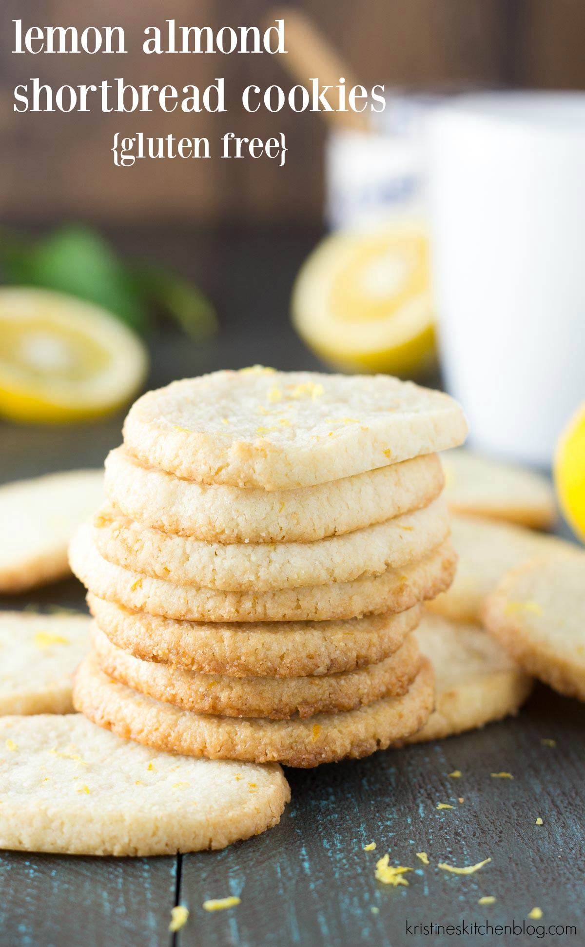 Lemon almond shortbread cookies gluten free kristines kitchen these easy lemon almond shortbread cookies are slice and bake and a perfect spring dessert negle Image collections