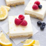 Lemon Greek Yogurt Cheesecake Bars