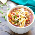 Slow Cooker Turkey Chickpea Chili