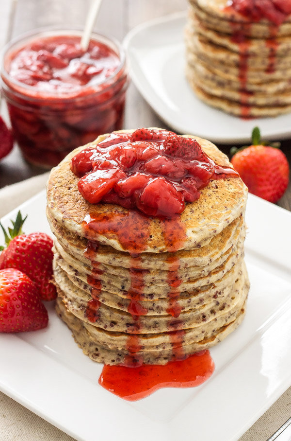 StrawberryQuinoaPancakes