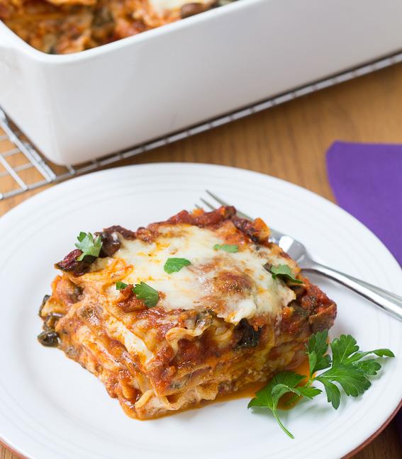 Kale and Baby Bella Lasagna