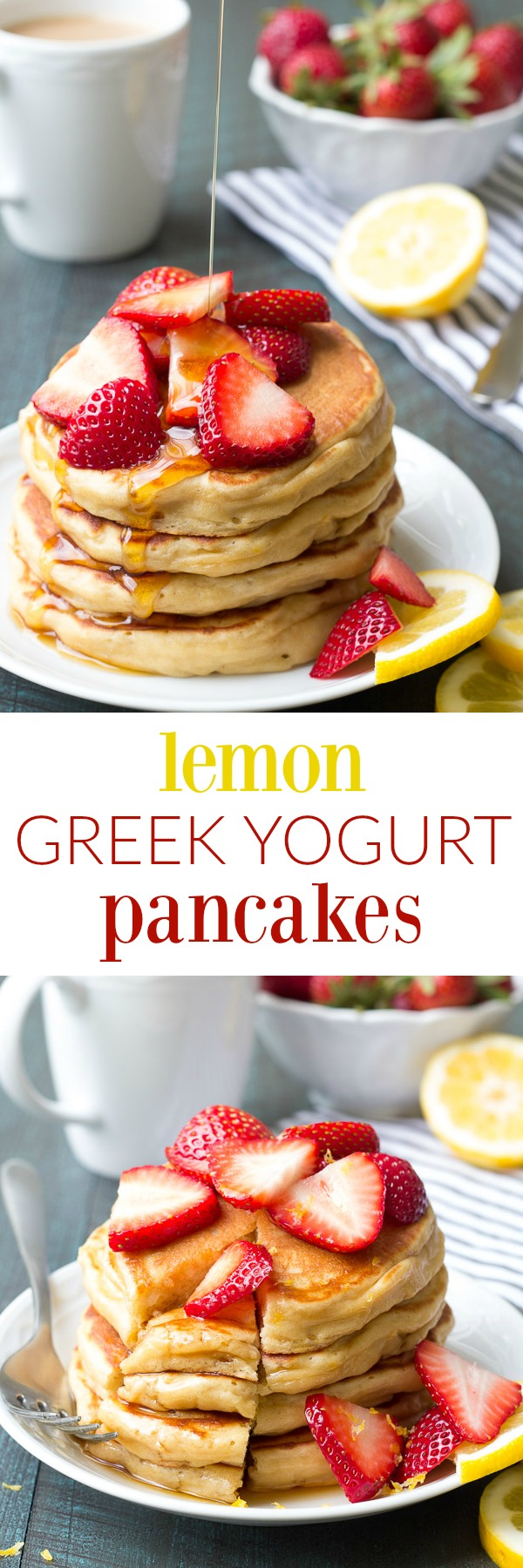 Lemon Pancakes With Yogurt + Berries Recipe — Dishmaps