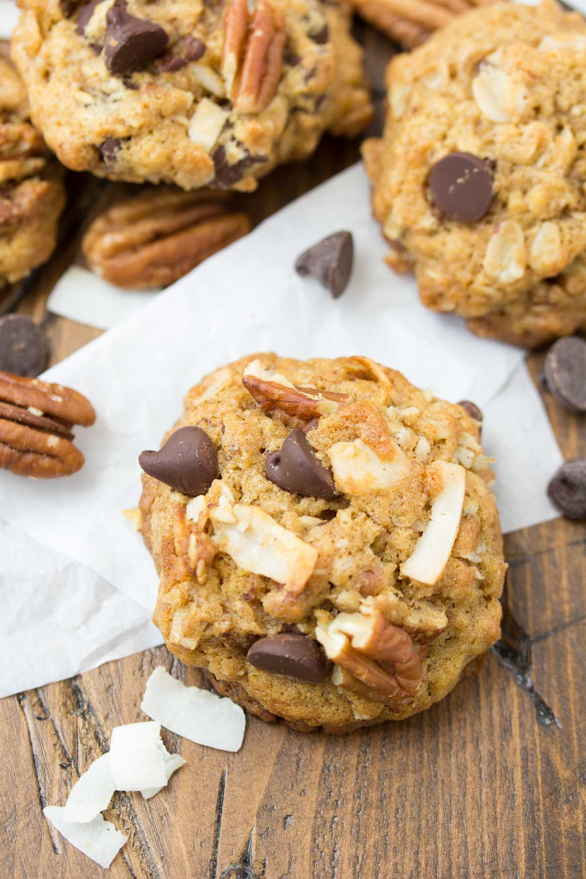 delicious Loaded Whole Wheat Chocolate Chip Cookies, made with wheat ...