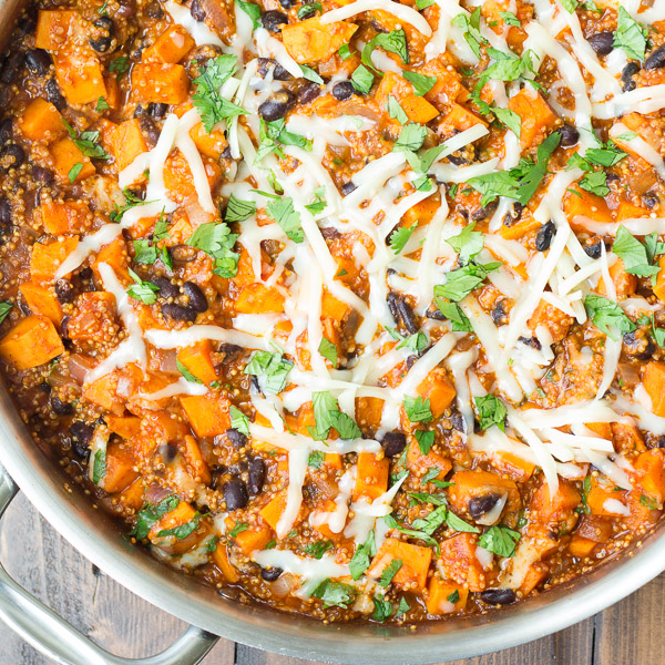Mexican Quinoa and Sweet Potato Skillet