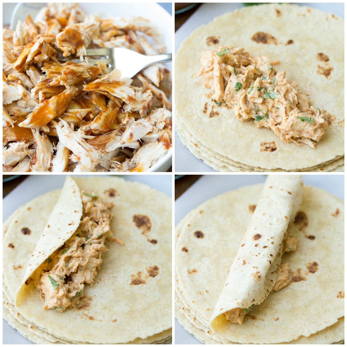 Easy Honey BBQ Slow Cooker Chicken Taquitos, filled with a creamy mixture of chicken, cheese, cream cheese, and homemade BBQ sauce! This baked chicken taquito recipe is made easier with the help of your crock pot!