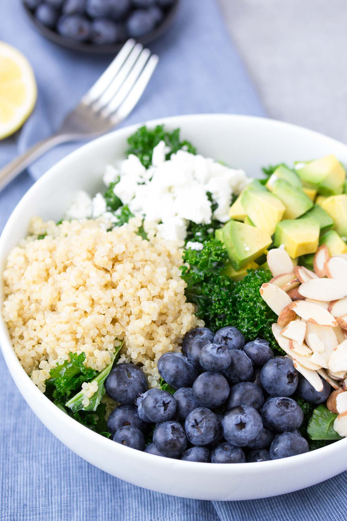 Kale Superfood Salad with Quinoa and Blueberries ...