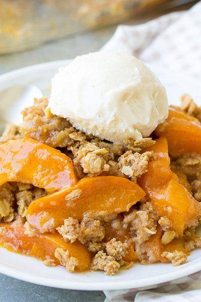 Healthier Fresh Apricot Crisp