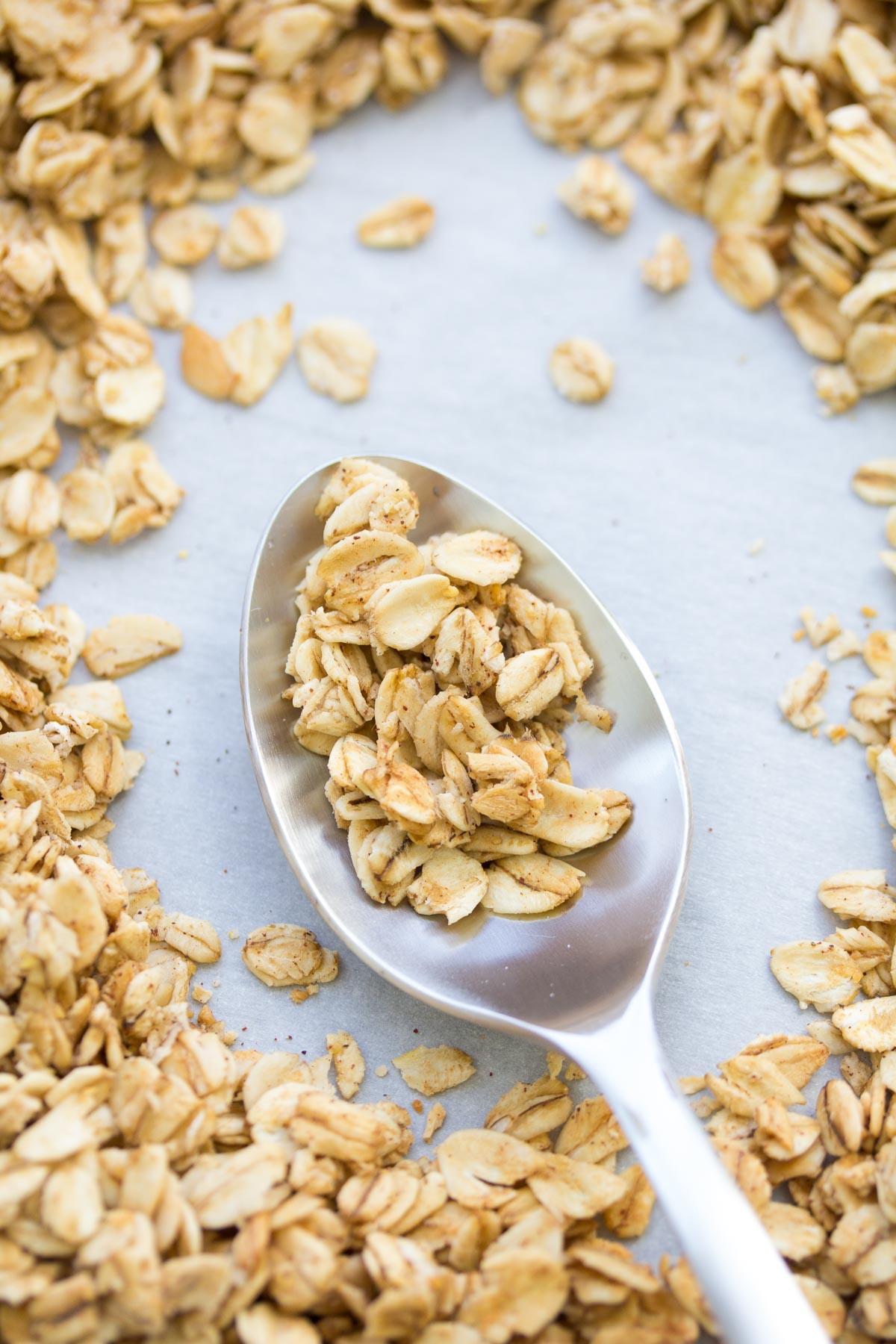 4 Ingredient Easy Granola Recipe Kristine S Kitchen