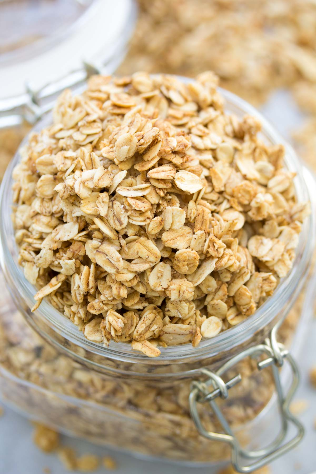 This simple homemade granola is deliciously crunchy! We make this 4 ...