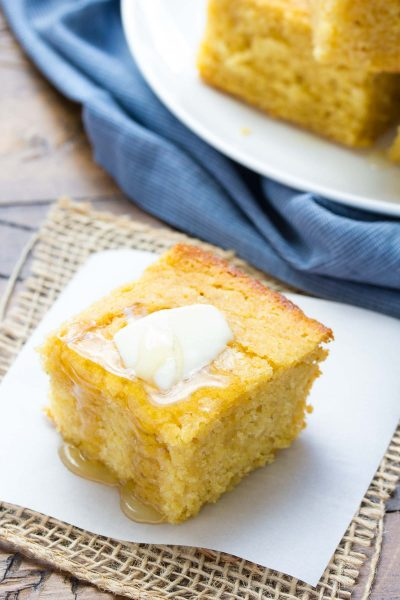 Sweet Honey Cornbread {Whole Grain}