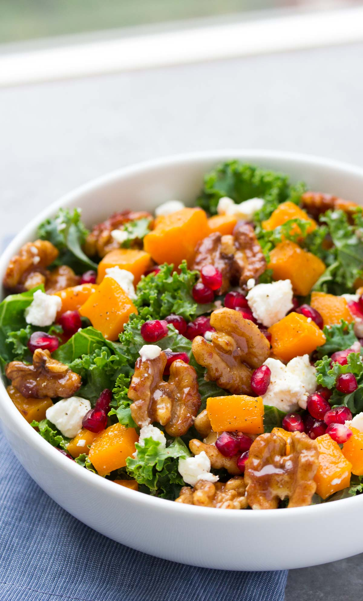 ... salad! Butternut squash and pomegranate kale salad with spiced