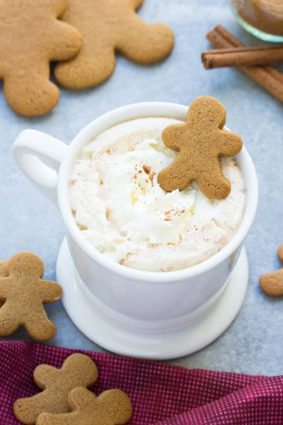Easy Microwave Gingerbread Hot Cocoa